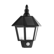 Arlec 50lm Black Elford Super Bright PIR Solar Wall Light