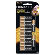 Duracell AA Coppertop Batteries - 12 Pack