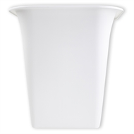 HomeLeisure 350mm White Square Balconia Planter