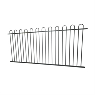 Protector Aluminium 2450 x 1200mm Loop Top Ulti-M8 Fence Panel - Monument