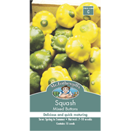 Mr Fothergill's Mixed Button Squash Vegetable Seeds