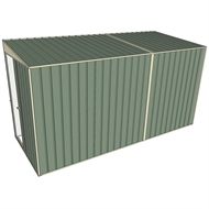 Build-a-Shed 1.5 x 3.7 x 2m Sliding Door Tunnel Shed - Green