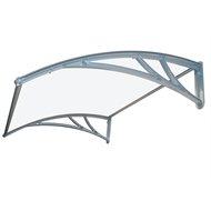 Altamonte 1200 x 1000mm Clear Monaco Plastic Canopy With Brackets