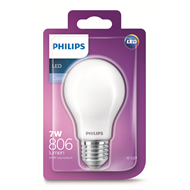 Philips 7W 806lm  A60 A Shape Classic LED ES Globe