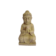 Lotus Collection Fibre Clay Buddha Statue