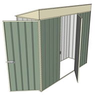 Build-a-Shed 0.8 x 2.3 x 2m Hinged Door Tunnel Shed with Single Hinged Side Door - Green