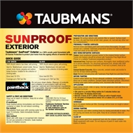 Taubmans Low Sheen White Sunproof Exterior Paint - 4L
