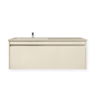 Forme 1200mm Colourstone / Hogsbristle Quay Undermount Wall Hung Vanity