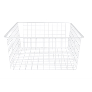 Flexi Storage 185mm White 2 Runner Wire Basket