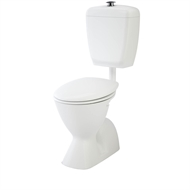 Caroma 3 Star WELS White Cosmo Sovereign Care Toilet Suite - S Trap