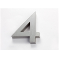 Sandleford 100mm 4 Aluminium Edge Numeral