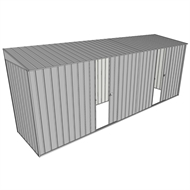Build-A-Shed 1.2 x 5.2 x 2.0m Zinc Skillion Dual Single Sliding Side Doors Shed - Zinc