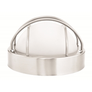 Brilliant 240V Plymouth Round Grilled Bunker Exterior Wall Light