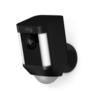 Ring Black Wired Spotlight Camera
