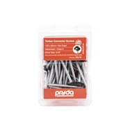 Pryda 12G x 65mm Galvanised Hex Head Timber Connector Screws - 50 Pack