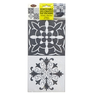Boyle 15 x 15cm Victorian Slate Grey 4 Piece Removable Tile Stickers