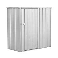 Pinnacle 1.51 x 0.77 x 1.52m Zinc Garden Shed
