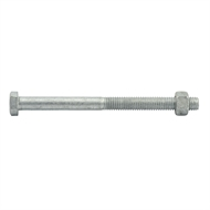 Zenith M12 x 180mm Hot Dipped Galvanised Hex Head Bolts And Nuts - 12 Pack