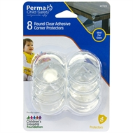 Perma Child Safety Round Clear Corner Protectors - 8 Pack