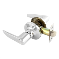 Schlage Chrome Regent Series Jupiter Entrance Leverset