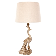 Cafe Lighting Peacock Gold Table Lamp