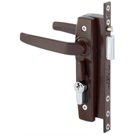 Gainsborough Brown Hinged Security Door Deadlock