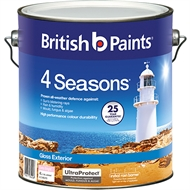 British Paints 4 Seasons 4L Extra Bright Gloss Exterior Paint