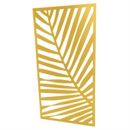 Protector Aluminium 600 x 900mm ACP Palm Decorative Unframed Panel - Light Yellow
