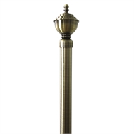 Windoware 130 - 240cm x 2.5 - 2.8cm Antique Gold Urn Expanding Curtain Rod