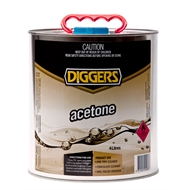 Diggers 4L Acetone Cleaning Solvent