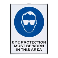 Sandleford 450 x 600mm Eye Protection Must Be Worn Plastic Sign