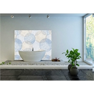 Bellessi 1220 x 3050 x 4mm Motiv Graphic Polymer Bathroom Panel - Beach Circles