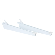 Flexi Storage White Shoe Shelf Bracket - 2 Pack