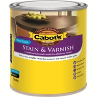 Cabot's 250ml Gloss Walnut Water Based Stain and Varnish