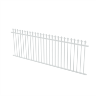 Protector Aluminium 2450 x 900mm J Spear Top Fence Panel - Pearl White