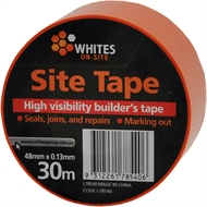 Whites On-Site 0.13 x 40mm 30m Orange PVC High Visibility Site Tape