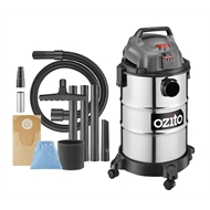 Ozito 1250W 25L Stainless Wet and Dry Vacuum