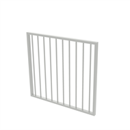 Protector Aluminium 975 x 900mm Flat Top Garden Gate - To Suit Gudgeon Hinges - Surfmist