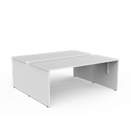 CeVello 1800 x 750mm White Two User Double Sided Desk