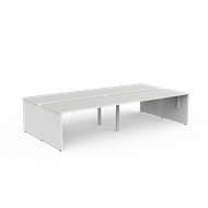 CeVello 1800 x 800mm White Four User Double Sided Desk