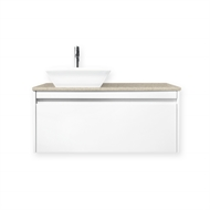 Quay 900mm Lexicon Colourstone Cubo Wall Hung Vanity