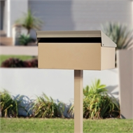 Sandleford Stone Condo Post Mounted Letterbox