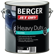 Berger Jet Dry 4L White Heavy Duty Gloss Paint
