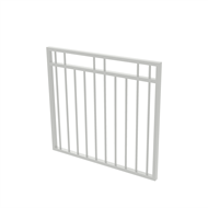 Protector Aluminium 975 x 900mm Double Top Rail 2 Up 2 Down Garden Gate - To Suit Gudgeon Hinges - Surfmist