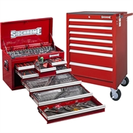 Sidchrome Red 262 Piece Metric/AF Tool Kit