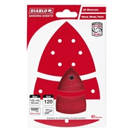 Diablo 102 x 62mm 120 Grit Abrasive All Surface Multi Sander Sheets - 10 Pack