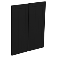 Kaboodle Black Olive Country Corner Wall Cabinet Doors - 2 Pack