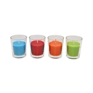 Waxworks Glass Votive Citronella Candle Refills - 6 Pack