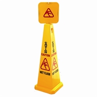 Sabco 1170mm Yellow Caution Wet Floor Cone And Sign
