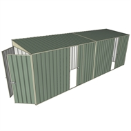 Build-a-Shed 1.5 x 6 x 2m Dual Sliding Side Door Skillion Shed - Green